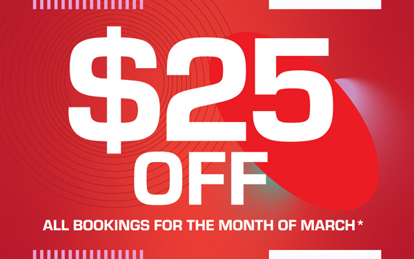 $25 off in March